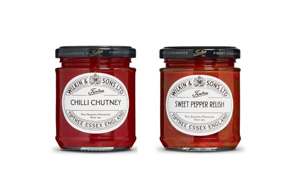 S170702 - Set: Chili Chutney & Sweet Pepper Relish - Wilkin & Sons