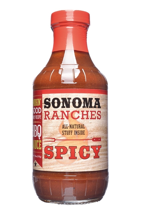 W144 - Spicy BBQ-Sauce 510 g - Sonoma Ranches